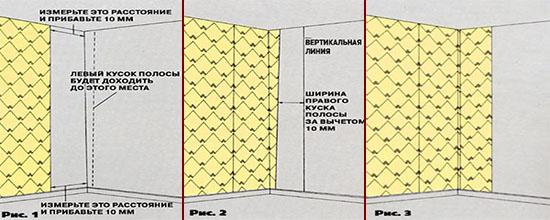 Схема поклейки виниловых обоев