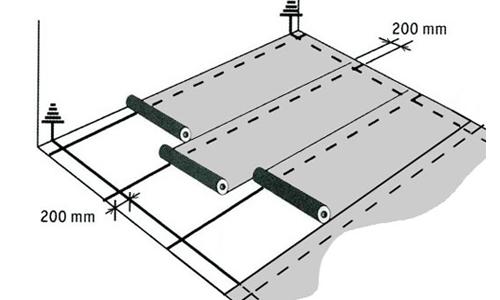 Укладка линолеума схема