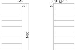 Схема проекта арки из гипсокартона с размерами