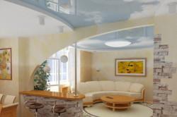 Подвесной потолок на кухне и гостиной
