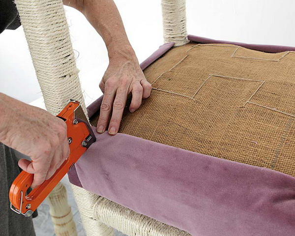 Как обшить стулья тканью своими руками фото