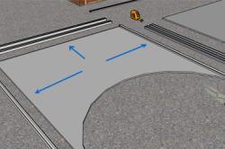 Схема подготовки шаблона арки из листа гипсокартона