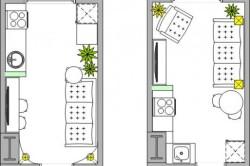 Схемы расстановки мебели