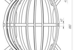 Кресло из листа фанеры: вид сверху с размерами
