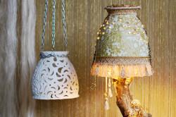 Реставрация светильника в стиле декупаж