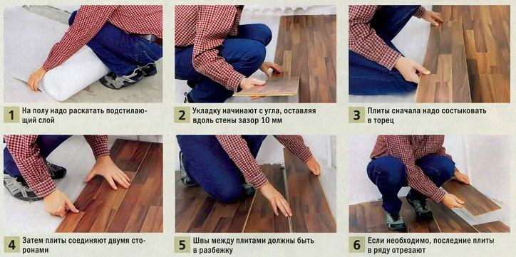 Как уложить ламинат на бетонный пол своими