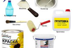 Материалы и инструменты для подготовки стен к оклейке обоями