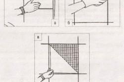 Схема монтажа мозаики