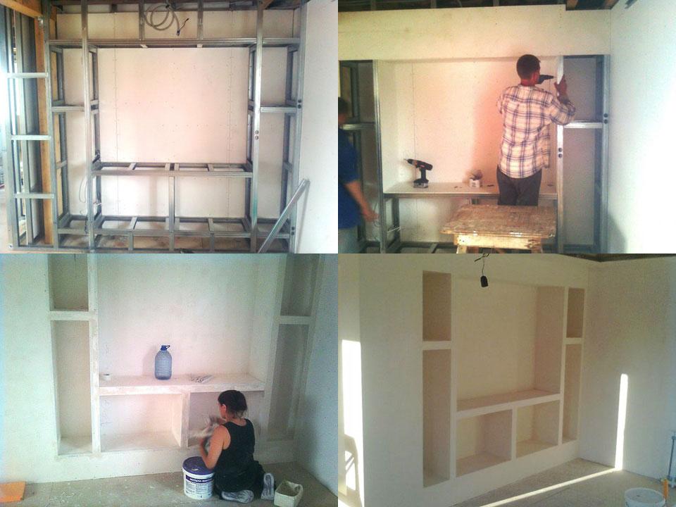 Как сделать стену из гипсокартона своими руками видео