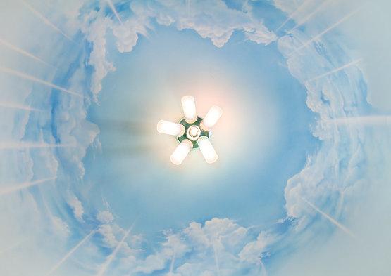 Как нарисовать облако на потолке своими руками