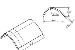 Схема подлокотника с размерами