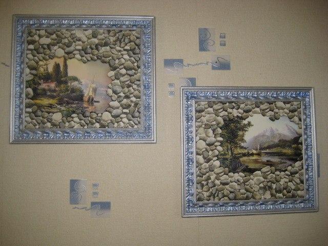 Рамки на стене, сделанные своими руками