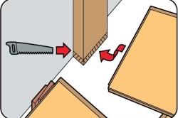 Схема укладки ламината под дверной коробкой