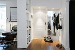 Зонирование гостиной и прихожей мебелью