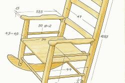 Чертеж кресла-качалки
