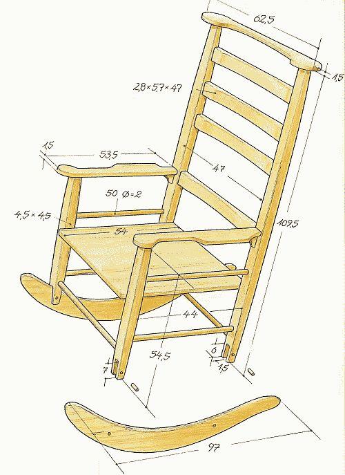 Кресло качалка своими руками фото чертеж