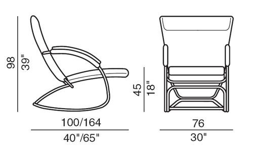 Чертеж кресла