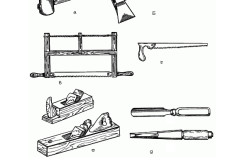 Инструменты для изготовления деревянного стула