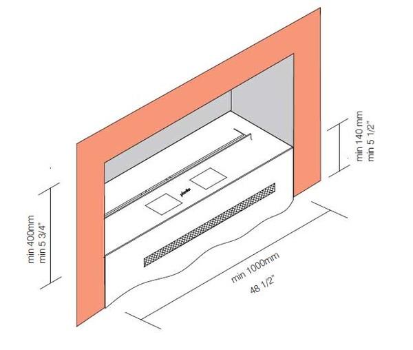 Схема горелки биокамин