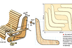 Схема сборки сиденья кресла