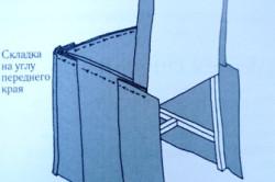 Схема соединения накидки булавками
