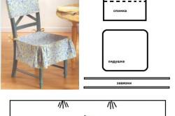 Выкройка накидки на стул