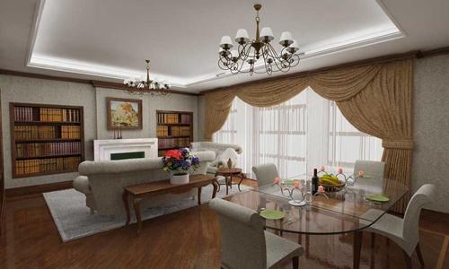 Зонирование столовой-гостиной