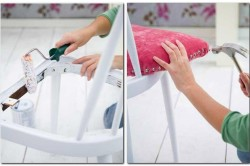 Процесс декорирования стула