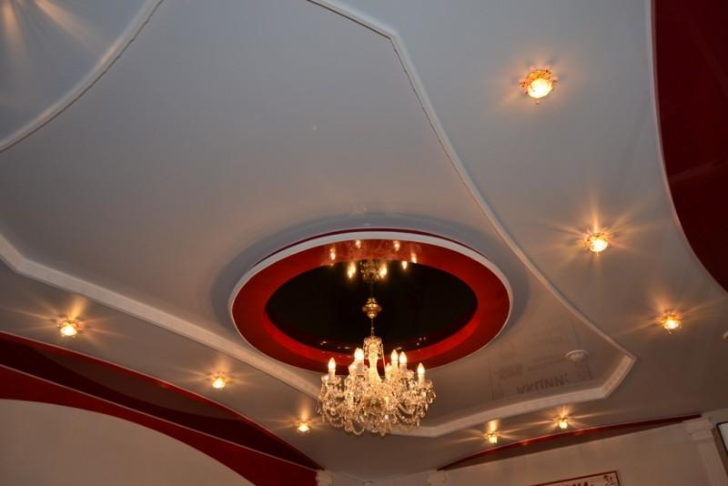 Двухуровневые потолки натяжные своими руками