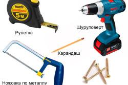 Основные инструменты для сборки дивана своими руками