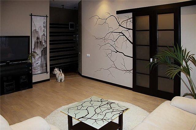 Как нарисовать узор на стене в комнате