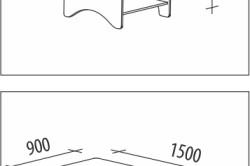 Возможные размеры столика трансформера