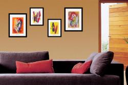 Украшение стены картинами
