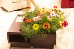 Журнальный столик из цветочного кашпо
