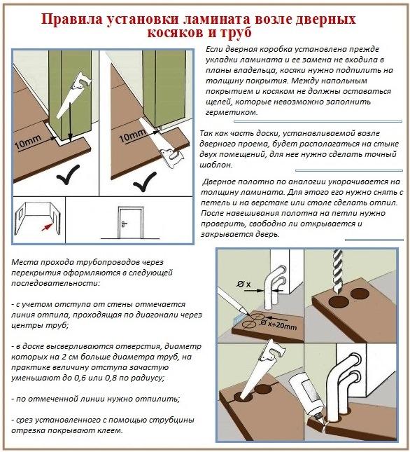 Как укладывать ламинат в коридорах  пошаговая инструкция 161