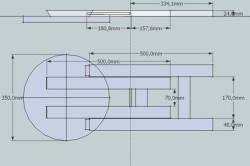 Схема размеров и элементов складного табурета