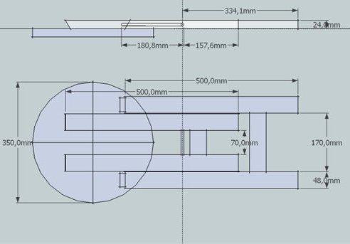 Схема размеров и элементов