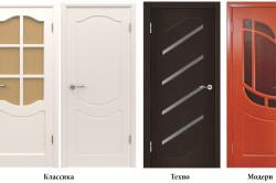 Межкомнатные двери различных стилей