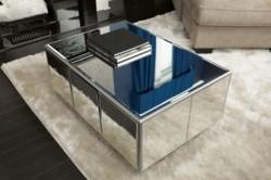 Журнальный стол из фанеры и зеркальной плитки