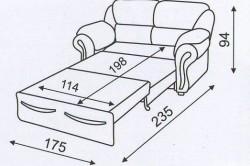 Проект дивана с размерами