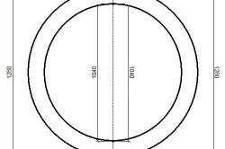 Чертеж столешницы круглого стола