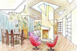 Дизайн помещения без перегородок