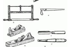 Инструменты для изготовления стола и стульев