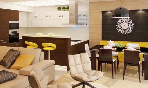 кухня-гостиная 13 кв м дизайн фото