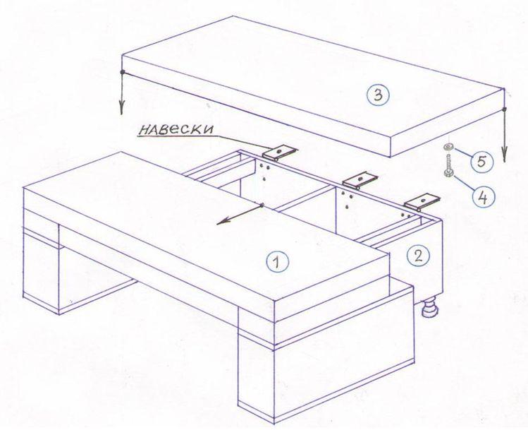 Чертёж дивана еврокнижка своими руками
