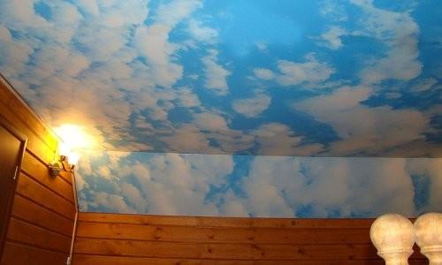 Как нарисовать небо на потолке своими руками фото