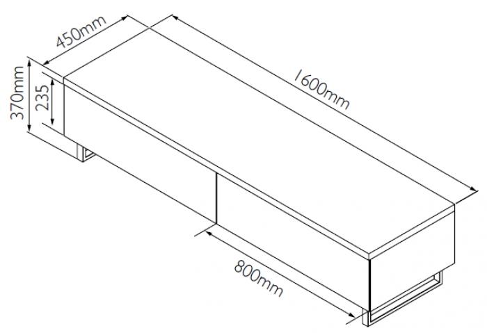 Схема простейшей тумбы под