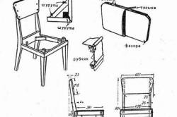Сборка мягкого стула