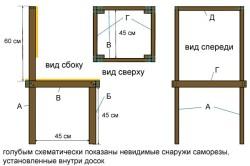Схема стула из сосны