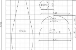 Схема – выкройка бескаркасной мебели